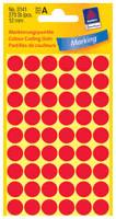 Packung mit roten Klebepunkten