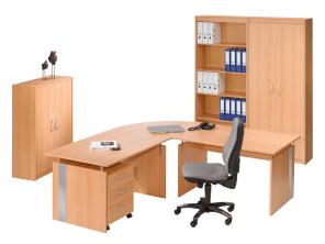 Das Faros Moebelprogramm mit Schrank Regal Schreibtisch Aktenregal