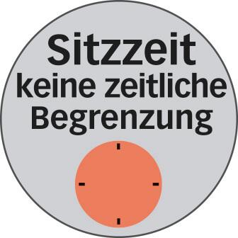 Uneingeschränkte empfohlene Bürostuhl Sitzzeit Logo