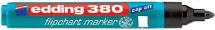 schwarzer Flipchart-Marker von edding mit Rundspitze