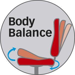 Body-Balance-Technik bei Bürostühlen