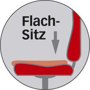 Flachsitz bei Bürostühlen