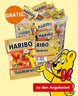 Top Angebote mit gratis HARIBO GOLDBÄREN