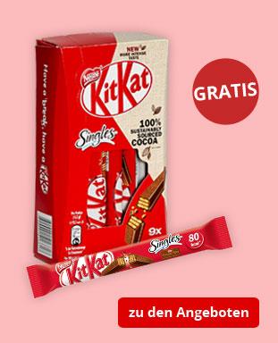 Top Angebote mit gratis KitKat Singles!