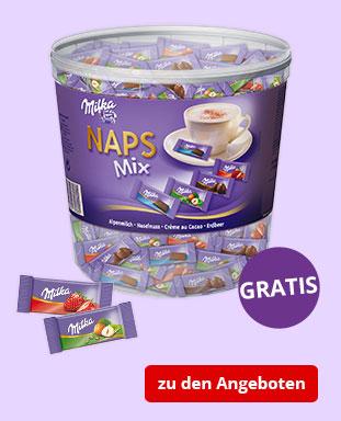 Top Angebote mit gratis Milka NAPS