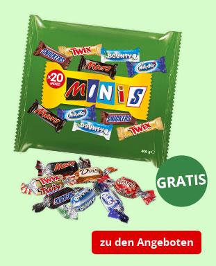 Top Angebote mit gratis Mars Mixed Minis