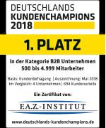 Siegel Deutschlands Kundenchampions: 2. Platz