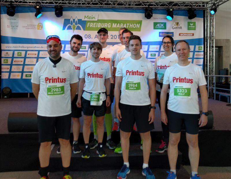 Erfolgreiche Läufer beim 15. Freiburg-Marathon