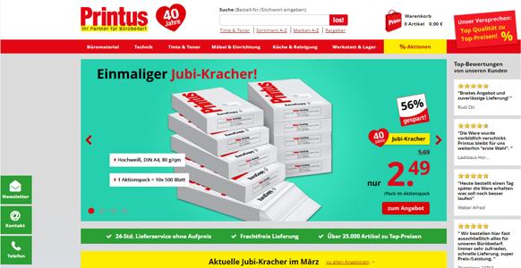 Printus Onlineshop im neuen Design